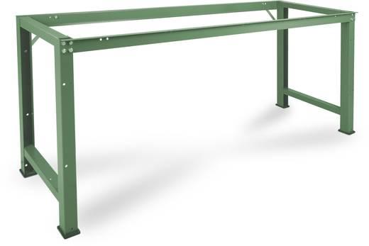 Manuflex WP3030.9006 Grund-Werkbank PROFI,2000x700 mm ohne Platte ähnlich RAL 9006 alusilber (B x H x T) 2000 x 800 x 70