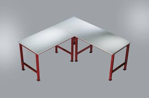 Manuflex AU0009.3003 Verkettungselement Universal Platte 21, Volleck 600 x 600 x 22mm PVC - weißgrau RAL3003 rubinrot