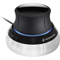 Optická 3D myš 3Dconnexion SpaceMouse Compact 3DX-700059, čierna, strieborná