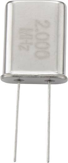 Quarzkristall 168718 HC-49/U 11 MHz 32 pF (L x B x H) 4.7 x 11.1 x 13.46 mm