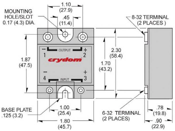 Crydom D1D12 Solid State Relay DC Output from Conradcom