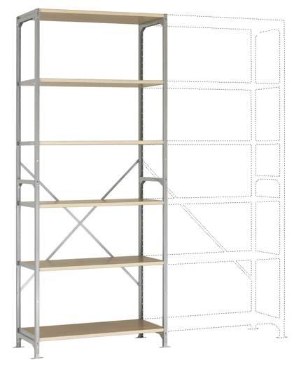 Fachbodenregal-Grundmodul (B x H x T) 970 x 2000 x 400 mm Stahl verzinkt Verzinkt Holzboden Manuflex RM3166
