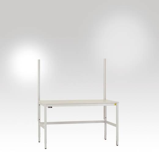 Manuflex LU8400.7035 Aufbaukomponenten ALU an UNIV.-Spez./Ergo-Untergestell 1350mm hoch(Nutzhöhe 900mm) für alle Tischbr