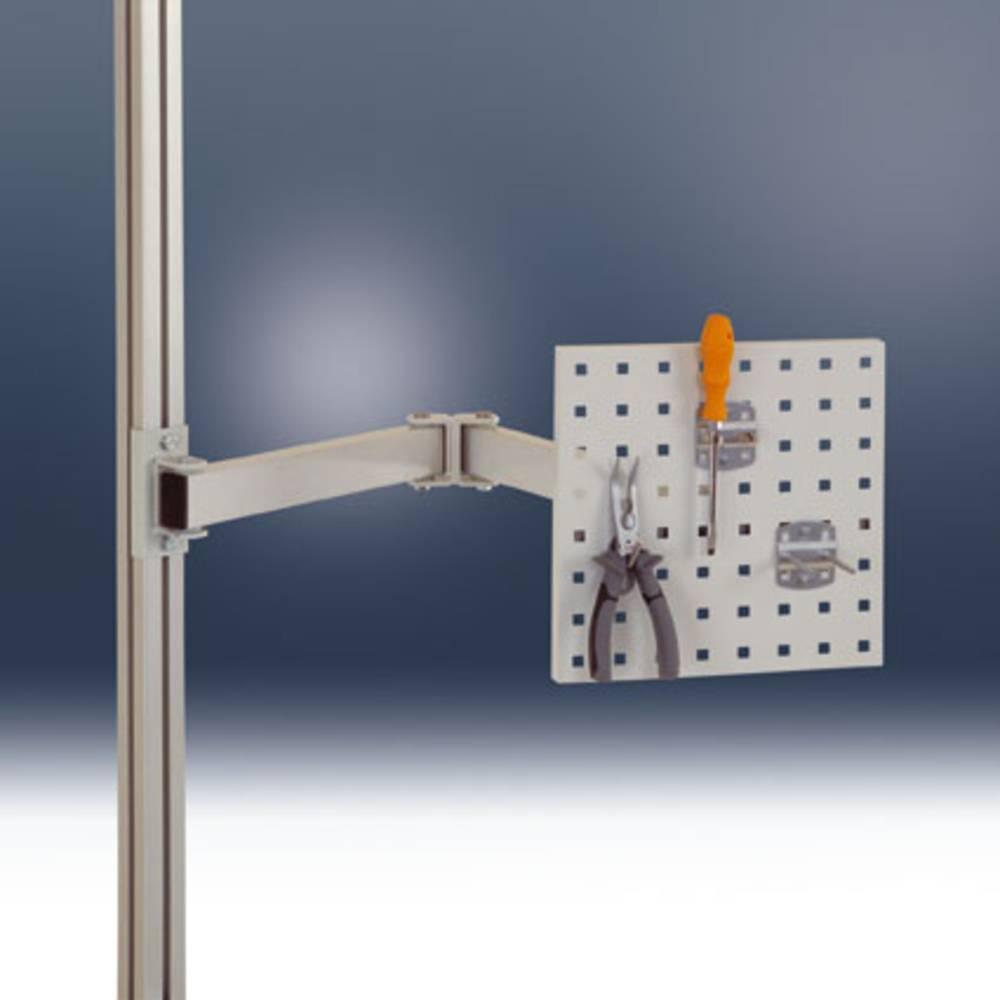 panneau porte outils bras pivotant avec articulation simple pour tables alu gris clair ral7035. Black Bedroom Furniture Sets. Home Design Ideas