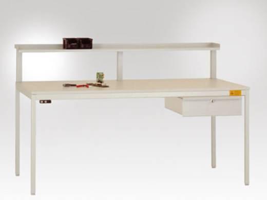 Manuflex LD4123.5007 Einzelschubfach mit Schloss für Unidesk-Tisch 800mm tief RAL5007 brillantblau leitfähig