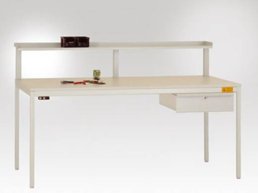 Manuflex LD4123.7035 Einzelschubfach mit Schloss für Unidesk-Tisch 800mm tief RAL7035 lichtgrau leitfähig