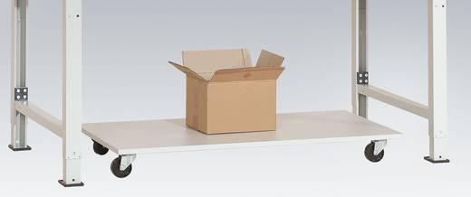 Manuflex AS1162.7035 Untertisch-Magazin, fahrbar 1125x500mm, ohne Bügel RAL7035 lichtgrau