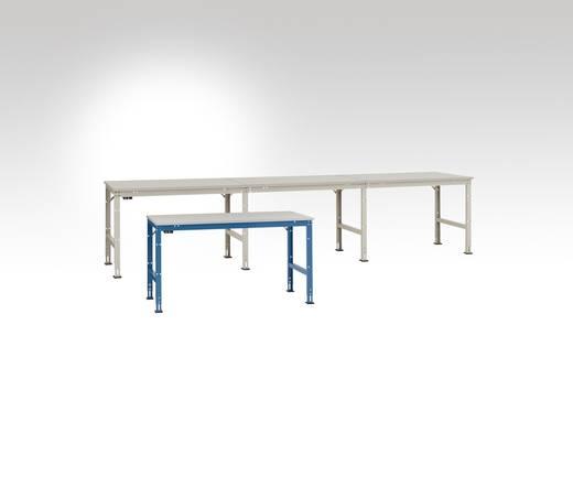 Manuflex LU6040.7035 Anbau-Arbeitst.UNIVERSAL 1500x 600x738mm, ohne Platte incl. Erdungsbox + Erdungssystem RAL7035 lich