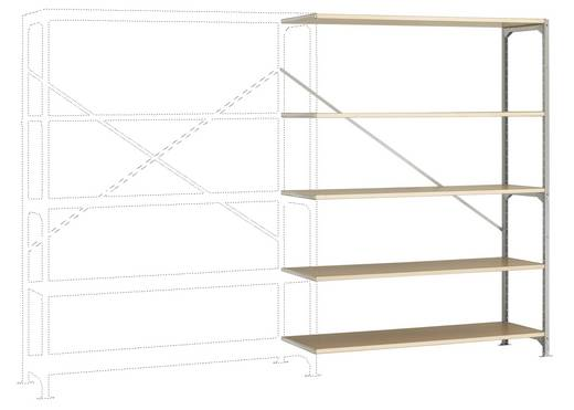 Fachbodenregal-Anbaumodul (B x H x T) 1470 x 2000 x 1000 mm Stahl verzinkt Verzinkt Holzboden Manuflex RM2525