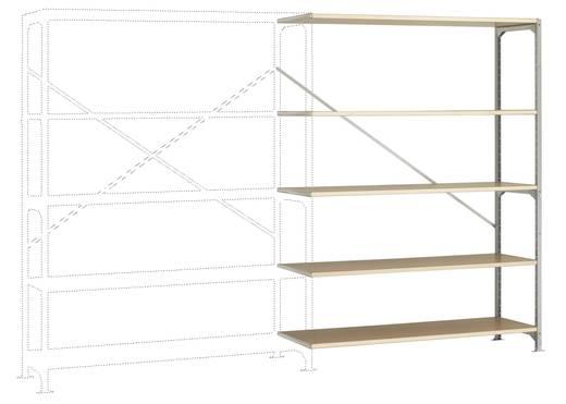Fachbodenregal-Anbaumodul (B x H x T) 1470 x 2000 x 400 mm Stahl verzinkt Verzinkt Holzboden Manuflex RB2521