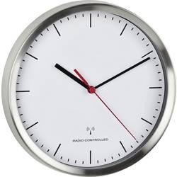 DCF nástenné hodiny TFA Dostmann Funk-Wanduhr 60.3530.02, vonkajší Ø 220 mm, hliník (kartáčovaný)