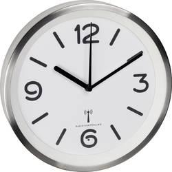 DCF nástenné hodiny TFA Dostmann 60.3535.02 60.3535.02, vonkajší Ø 253 mm, hliník (kartáčovaný)