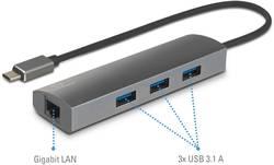 Síťový adaptér / rozbočovač 1 Gbit/s Renkforce USB-C™ USB 3.1, LAN (až 1 Gbit/s), USB 3.0