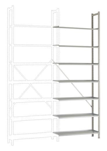 Steck-Regal PLANOFLEX Anbauauführung mit 7 Fachböden RA3272.7035 Licht-Grau (RAL 7035) (B x H x T) 900 x 2600 x 300 mm