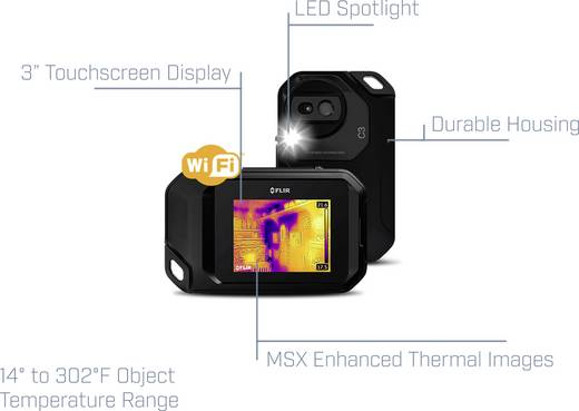 FLIR C3 Educational Kit Wärmebildkamera -10 bis +150 °C 9 Hz MSX®, WiFi