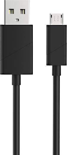 Renkforce USB 2.0 Anschlusskabel [1x USB 2.0 Stecker A - 1x USB 2.0 Stecker Micro-B] 1 m Schwarz