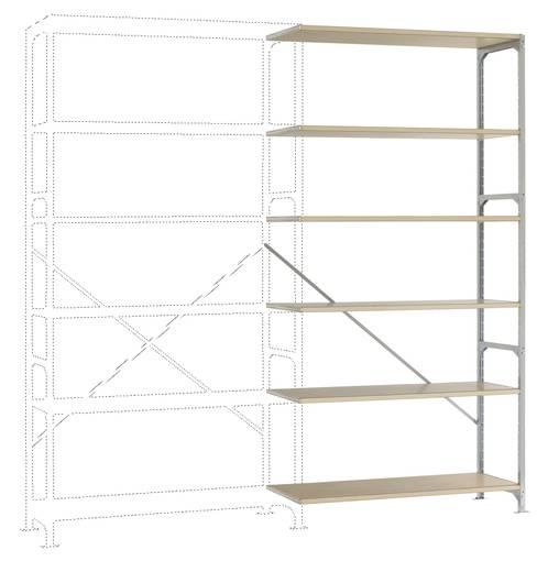 Fachbodenregal-Anbaumodul (B x H x T) 970 x 2500 x 500 mm Stahl verzinkt Verzinkt Holzboden Manuflex RM2196