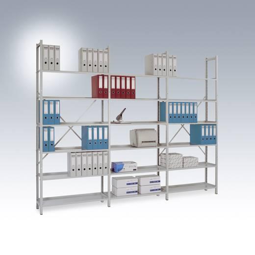 Steck-Regal PLANOFLEX Grundausführung mit 5 Fachböden RA3251.7035 (B x H x T) 900 x 1900 x 300 mm Licht-Grau