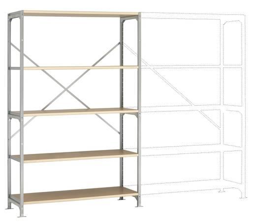 Fachbodenregal-Grundmodul (B x H x T) 1220 x 2000 x 500 mm Stahl verzinkt Verzinkt Holzboden Manuflex RM2116
