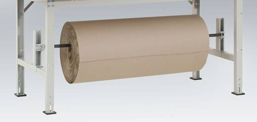 Manuflex AS1201.7035 Rollen-Achssatz f.Untertisch-Montage für 1500mm Tischbreite (passend f.Untergestellbreite=1250mm) RAL7035 lichtgrau