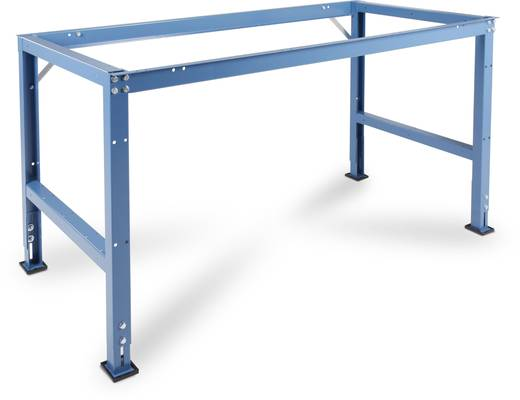 Manuflex AU4050.5021 Grund-Arbeitst.UNIVERSAL 1500x800x738mm,ohne Platte RAL5021 wasserblau