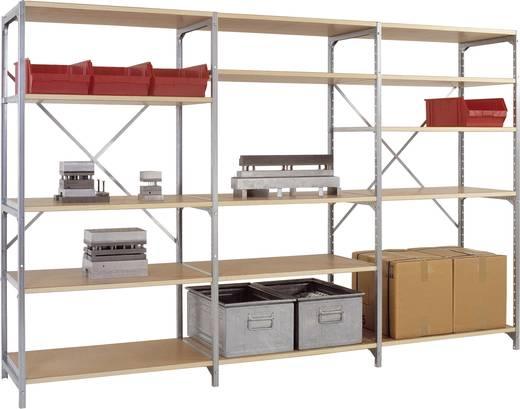 Fachbodenregal-Grundmodul (B x H x T) 970 x 2000 x 500 mm Stahl verzinkt Verzinkt Holzboden Manuflex RB2108