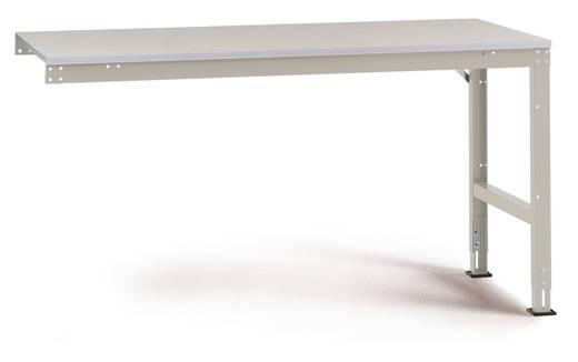 Manuflex AU6021.5007 Arbeitst.UNIVERSAL,Anbau. 1250x 600x760 mm, Pl.Melamin RAL5007 brillantblau