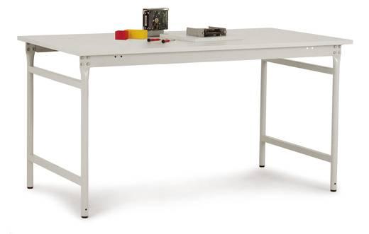 Manuflex BB3019.7035 Beistelltisch BASIS stationär 1000x600x780 mm, Platte PVC weißgrau RAL 7035 lichtgrau