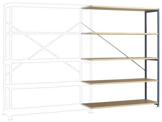 Manuflex RP1145.6011 Fachbodenregal-Anbaumodul (B x H x T) 1470 x 2000 x 1000 mm Stahl pulverbeschichtet Resedagrün Holz