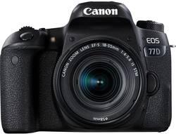 Digitální zrcadlovka Canon EOS 77D vč. EF-S 18-55 mm IS STM 24.2 MPix černá Bluetooth