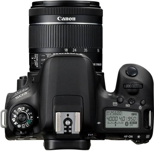canon eos 77d digitale spiegelreflexkamera ef s 18 55 mm is stm 24 2 mio pixel schwarz. Black Bedroom Furniture Sets. Home Design Ideas