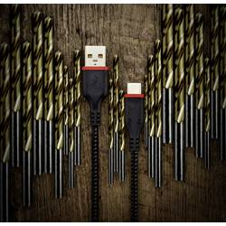 USB 2.0 prepojovací kábel Renkforce Strong RF-3385670, 1.00 m, čierna