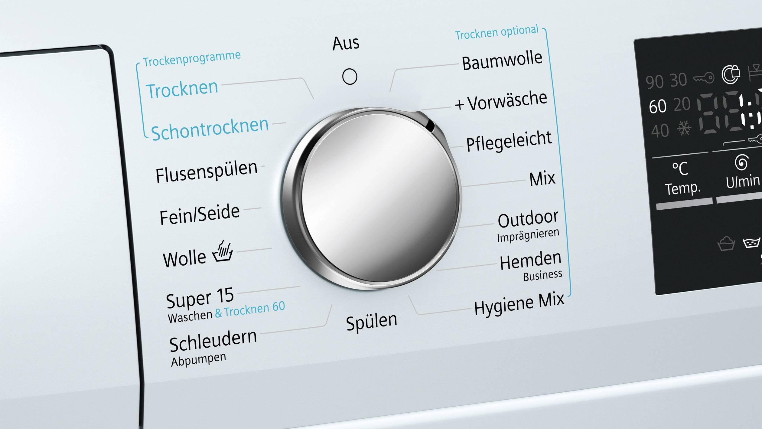 Siemens waschtrockner wd g iq
