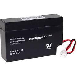 Olovený akumulátor multipower PB-12-0,8-JST MP0,8-12, 0.8 Ah, 12 V