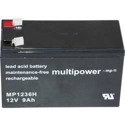 Olovený akumulátor multipower PB-12-9-6,35 MP1236H, 9 Ah, 12 V