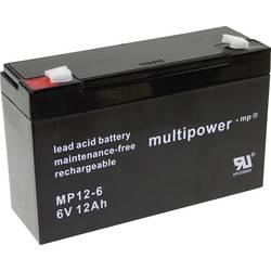 Olovený akumulátor multipower PB-6-12-6,35 MP12-6, 12 Ah, 6 V