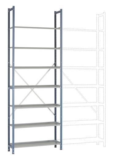 Steck-Regal PLANOFLEX Grundausführung mit 7 Fachböden RA2185.5007 (B x H x T) 900 x 2600 x 300 mm Brillant-Blau, Verzink