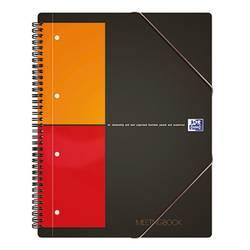 Image of Oxford Collegeblock 100100362 Grau, Orange, Rot DIN A4+ kariert mit Rand innen/außen Anzahl der Blätter: 80