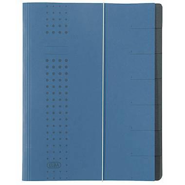 Karton anthrazit 2 x Elba Ordnungsmappe »chic« A4 7 Fächer
