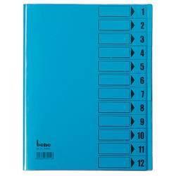 Image of Bene 084800BL Ordnungsmappe Blau DIN A4 PVC Anzahl der Fächer: 12
