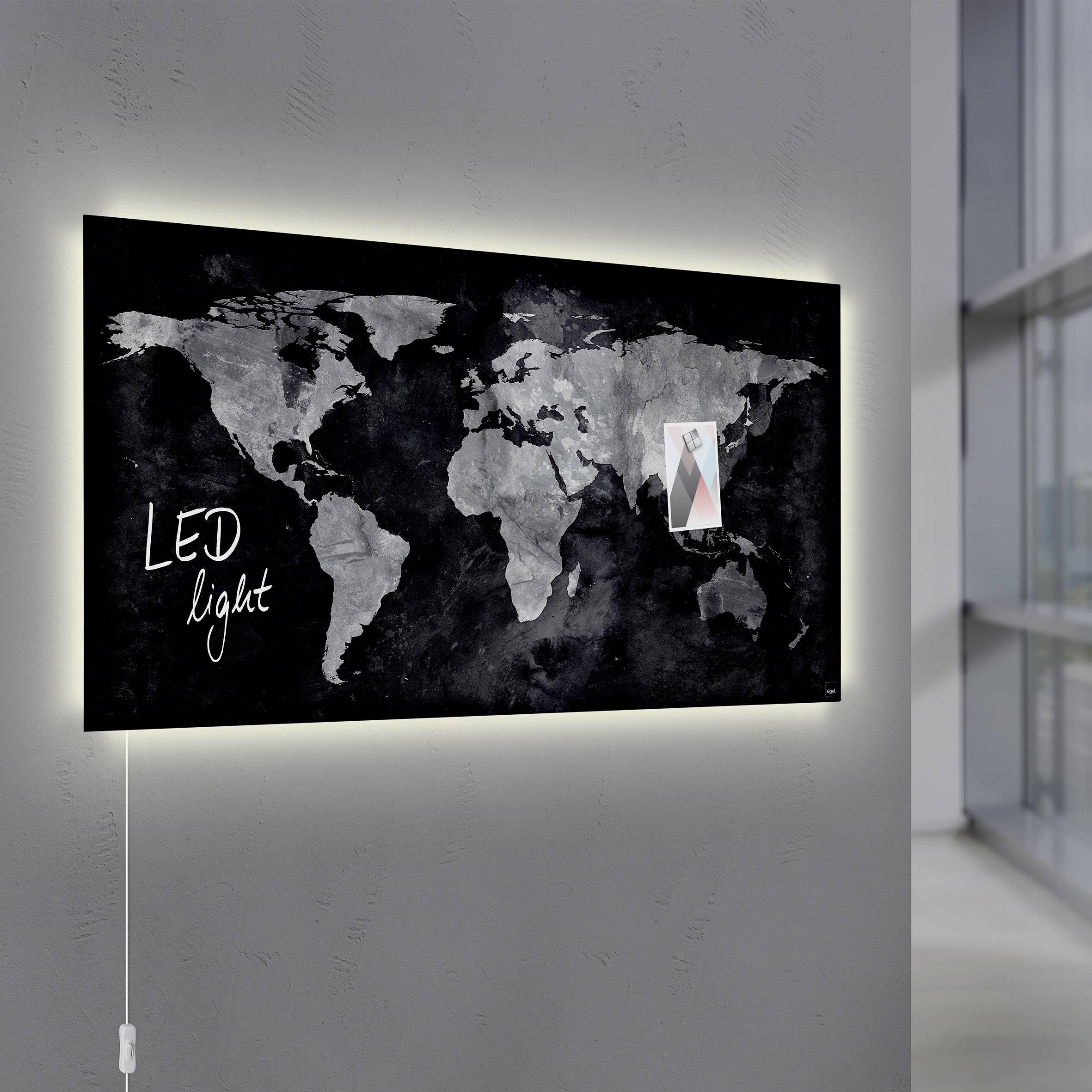 Sigel Glas-Magnetboard GL409 artverum® mit LED-Beleuchtung, Design on