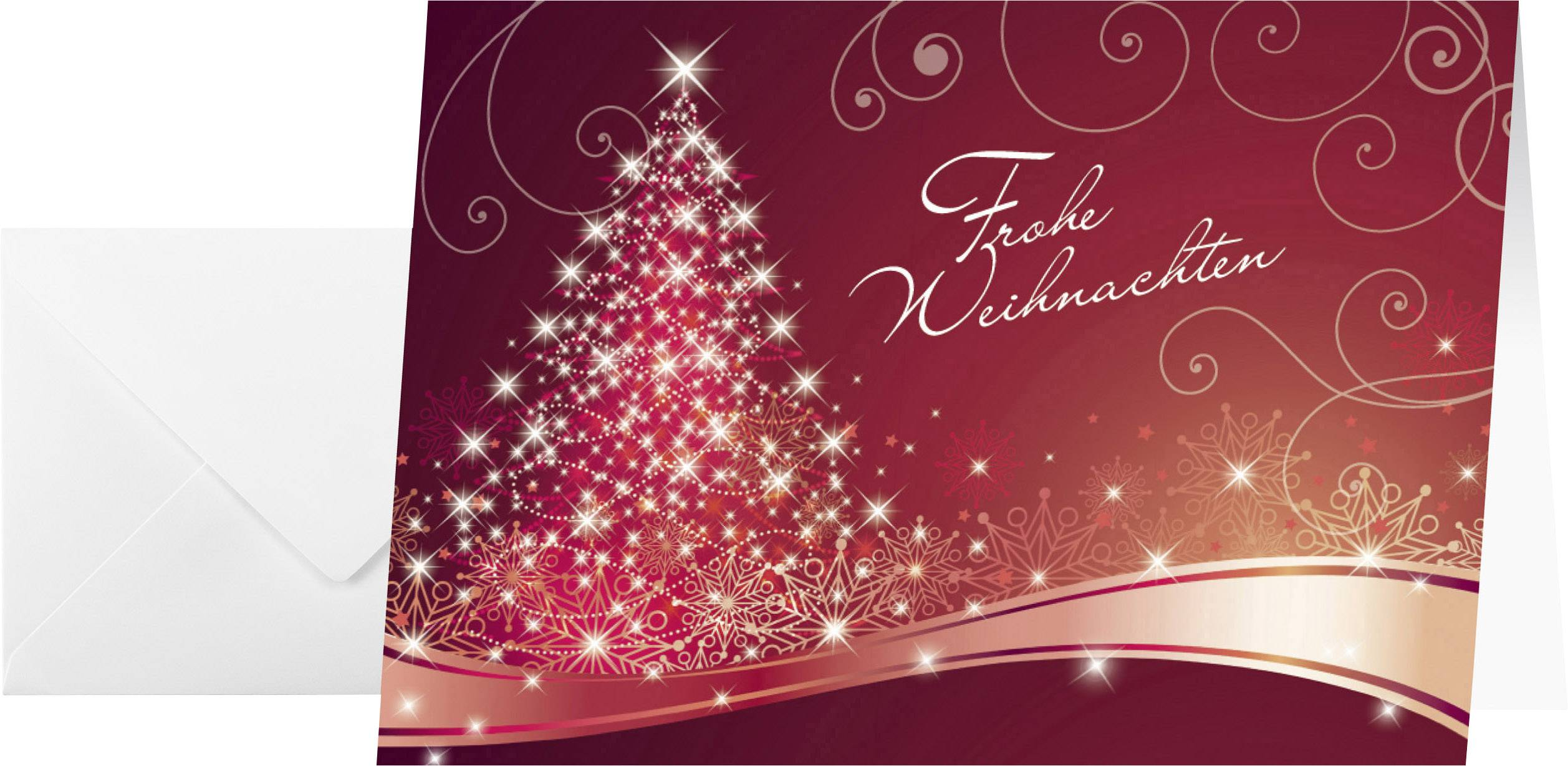 Weihnachtskarte Briefumschlag Sigel Ds019 Christmas Swing Din A6
