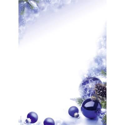 Motivpapier Weihnachten.Motivpapier Weihnachten Sigel Dp034 Blue Harmony Din A4 90 G M Mehrfarbig 100 Blatt