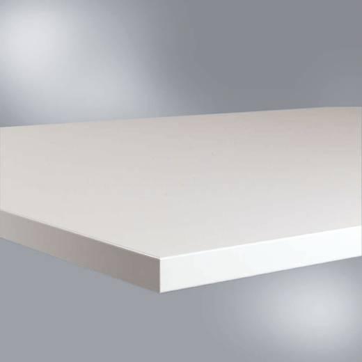 Manuflex LZ1601 Tischplatte Melamin leitfähig lichtgrau 1000x 600x25mm Ableitwiderstand nach EN100015 (B x H x T) 1000 x 25 x 600 mm