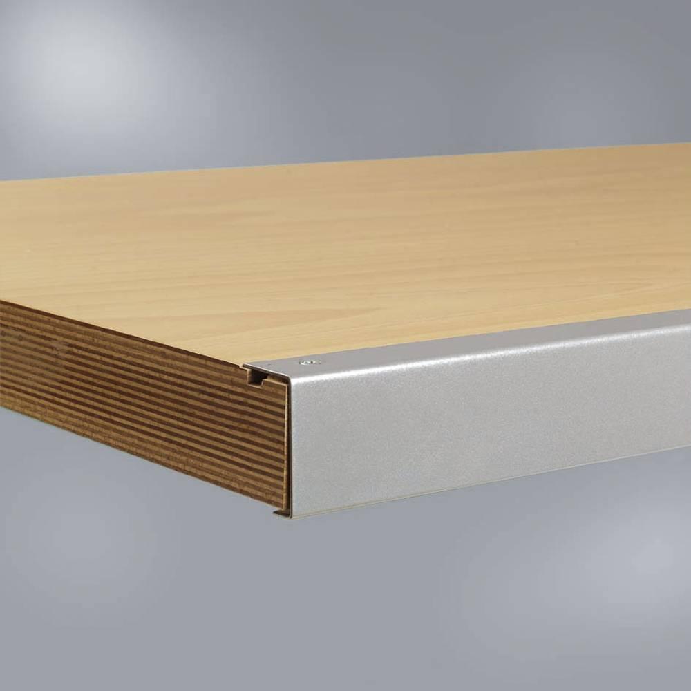 plateau d 39 tabli multiplex avec bords en acier 1250 x 700 x 30 mm manuflex zb1071 sur le site. Black Bedroom Furniture Sets. Home Design Ideas
