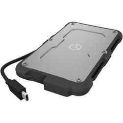 """6,35 cm (2,5 palce) úložné pouzdro pevného disku 2.5 """" ICY BOX IB-287-C31, USB-C™ USB 3.1, černá/stř"""