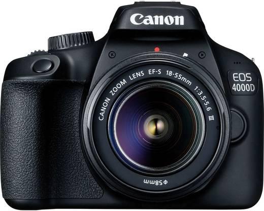 digitale spiegelreflexkamera canon eos 4000d kit 18 55mm iii ef s 18 55 mm is ii 18 mio pixel. Black Bedroom Furniture Sets. Home Design Ideas