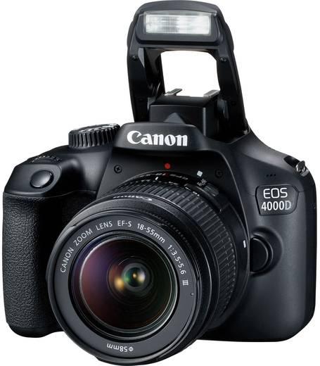 canon eos 4000d kit 18 55mm iii digitale spiegelreflexkamera ef s 18 55 mm is ii 18 mio pixel. Black Bedroom Furniture Sets. Home Design Ideas