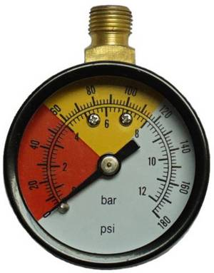 Anschluss Manometer