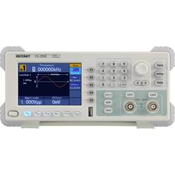 VOLTCRAFT FG-2502 Arbitrárny generátor funkcií kalibrácia podľa (ISO), 1 µHz - 50 MHz, 2-kanálová